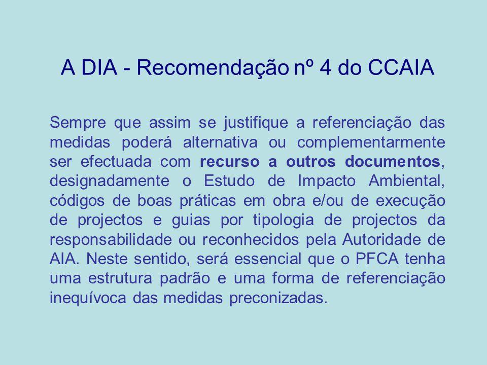 A DIA - Recomendação nº 4 do CCAIA