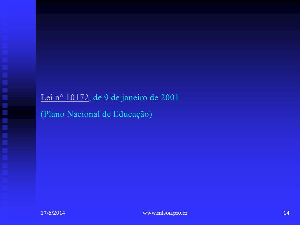 (Plano Nacional de Educação)