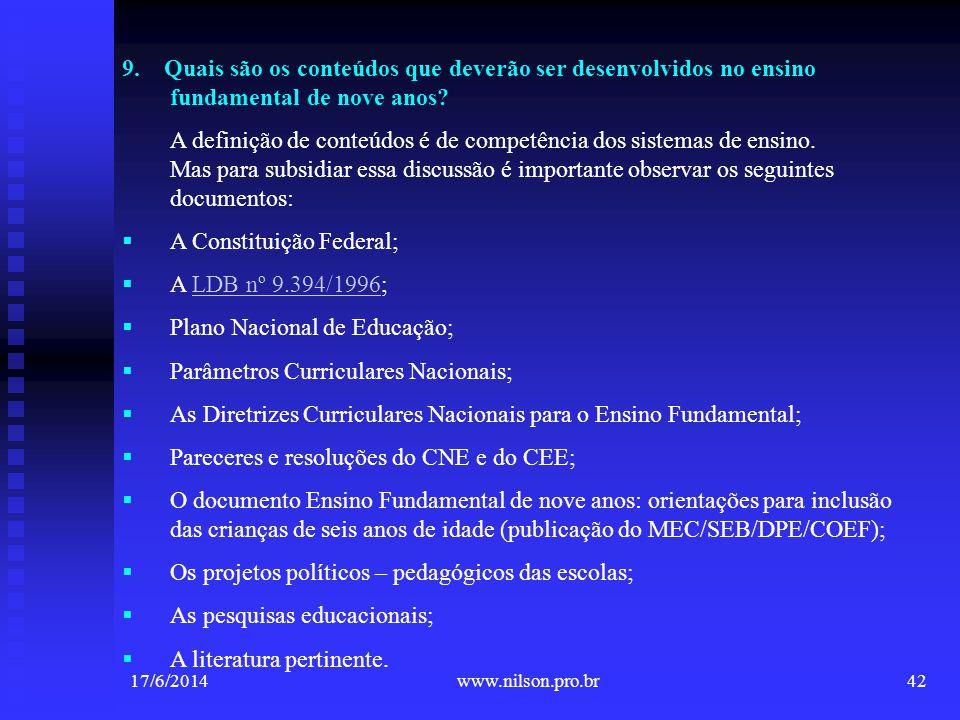 A Constituição Federal; A LDB nº 9.394/1996;