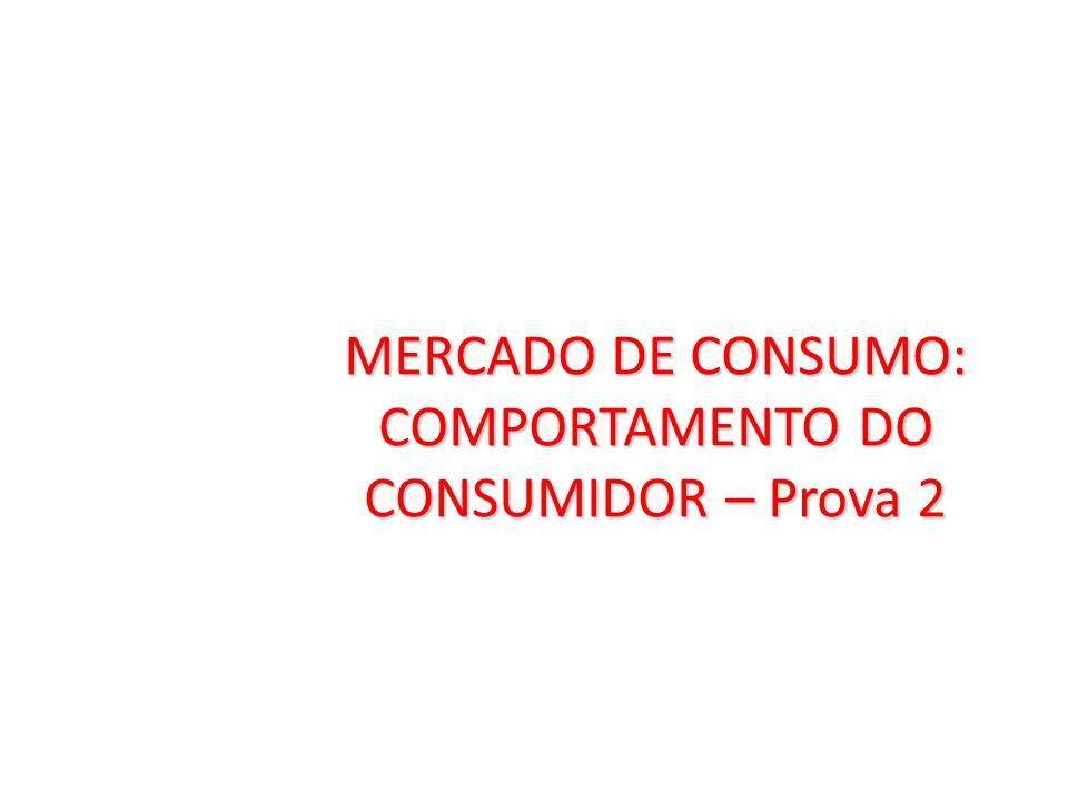 MERCADO DE CONSUMO: COMPORTAMENTO DO CONSUMIDOR – Prova 2