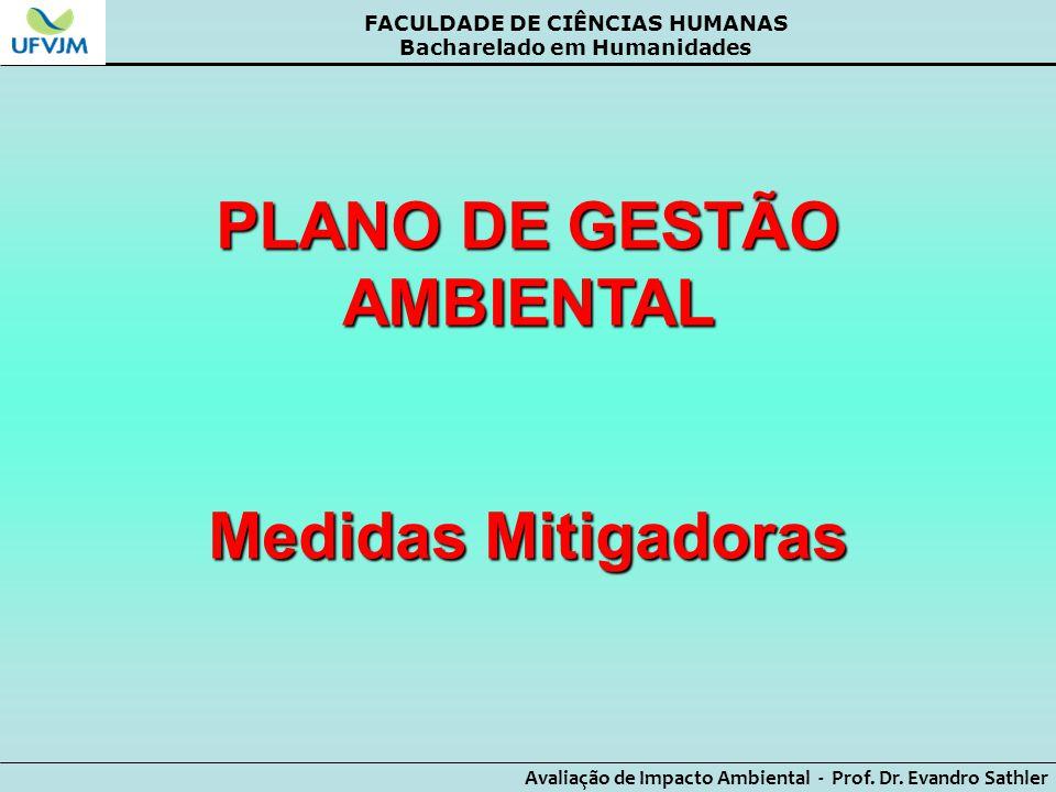 PLANO DE GESTÃO AMBIENTAL Medidas Mitigadoras