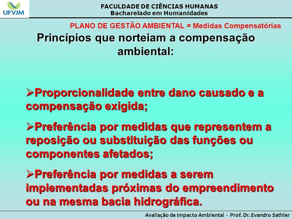Princípios que norteiam a compensação ambiental: