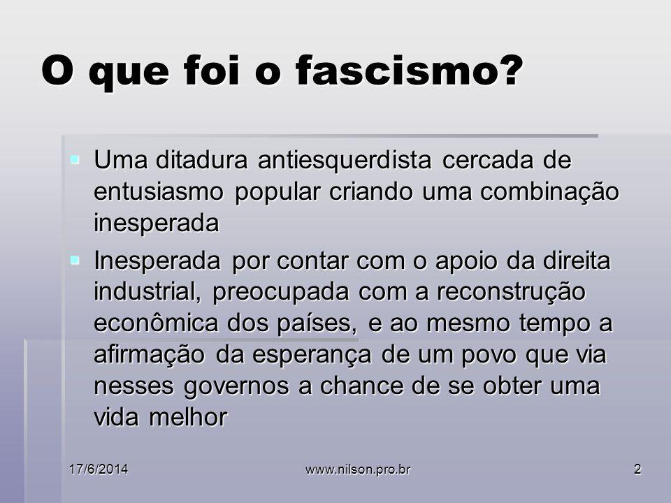 O que foi o fascismo Uma ditadura antiesquerdista cercada de entusiasmo popular criando uma combinação inesperada.