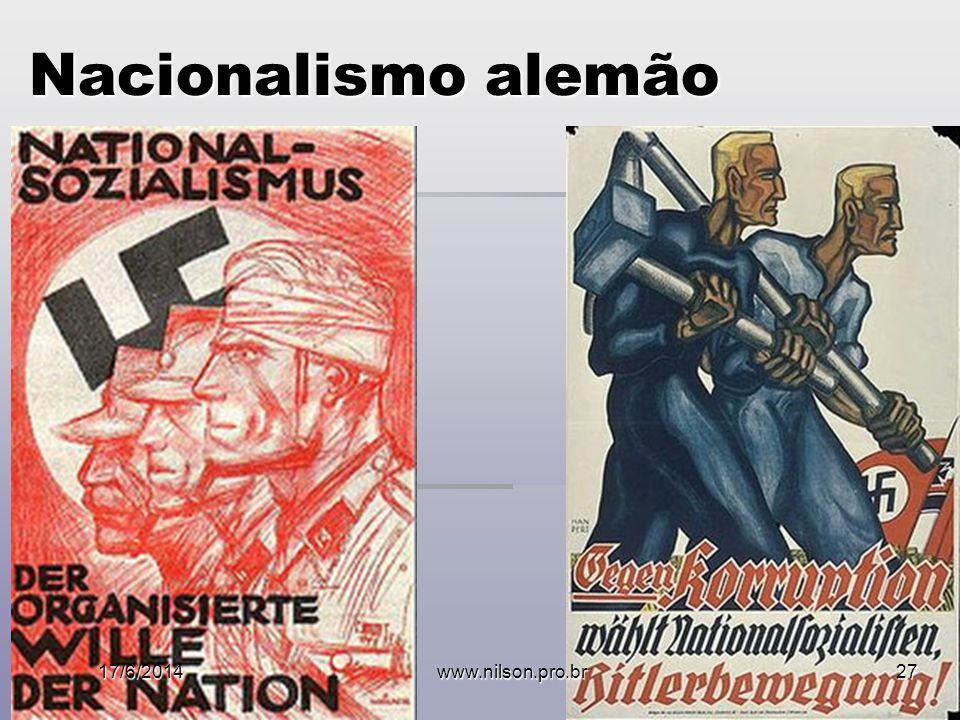 Nacionalismo alemão 02/04/2017 www.nilson.pro.br