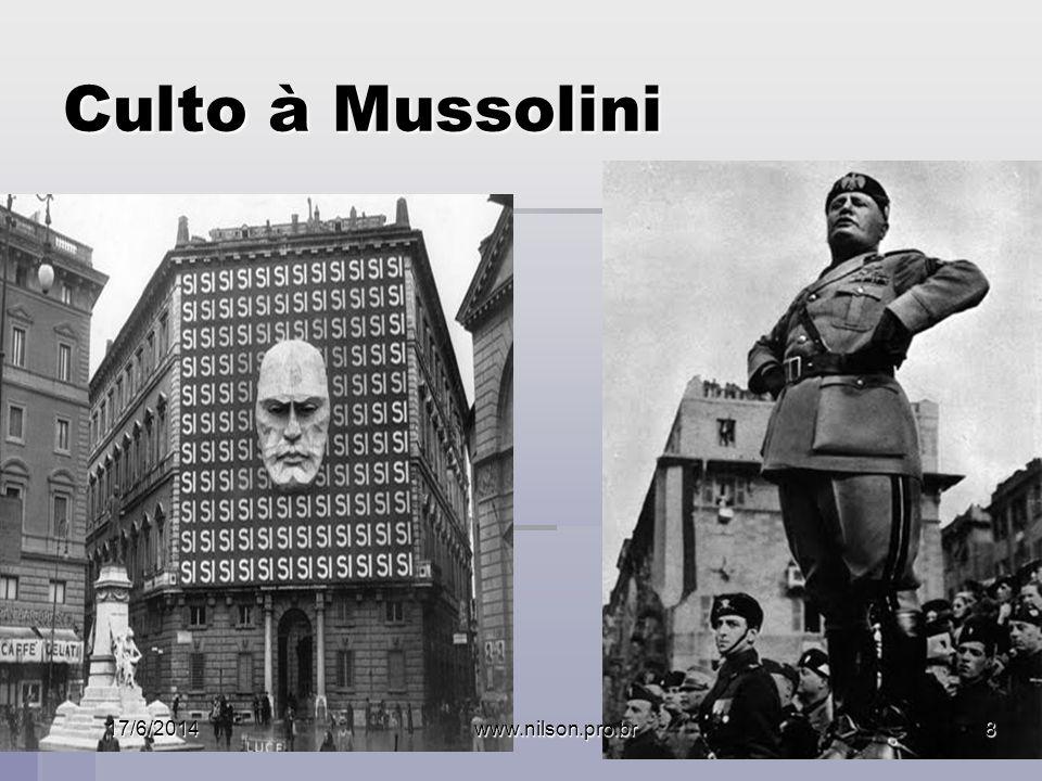 Culto à Mussolini 02/04/2017 www.nilson.pro.br