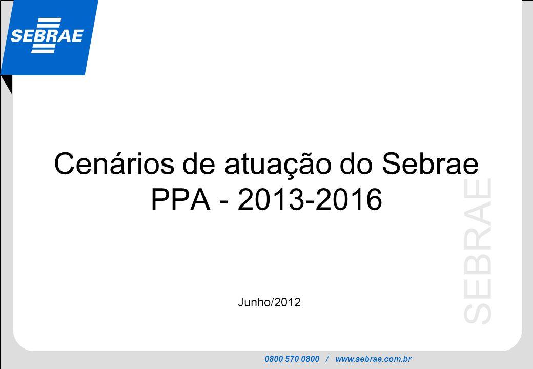 Cenários de atuação do Sebrae PPA - 2013-2016