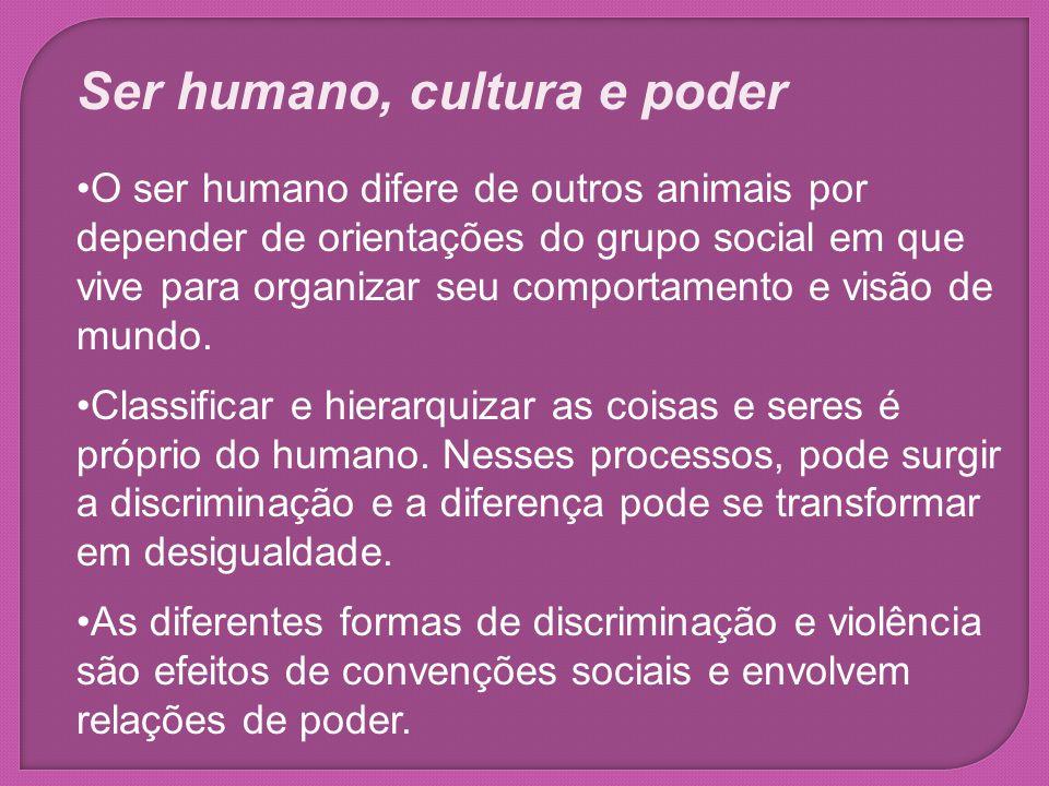 Ser humano, cultura e poder