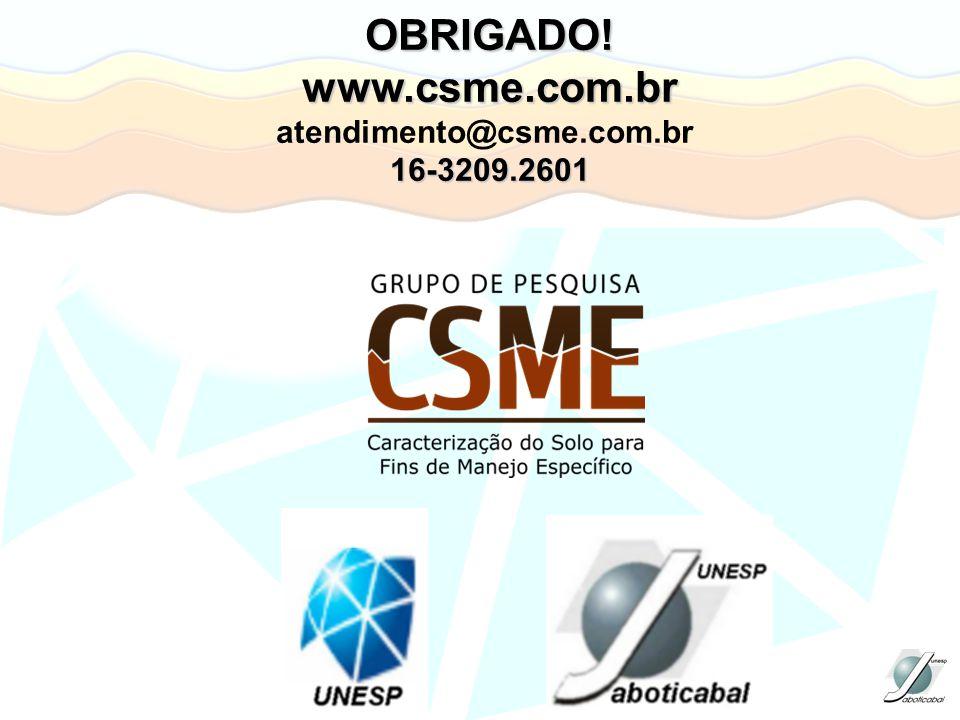 OBRIGADO! www.csme.com.br