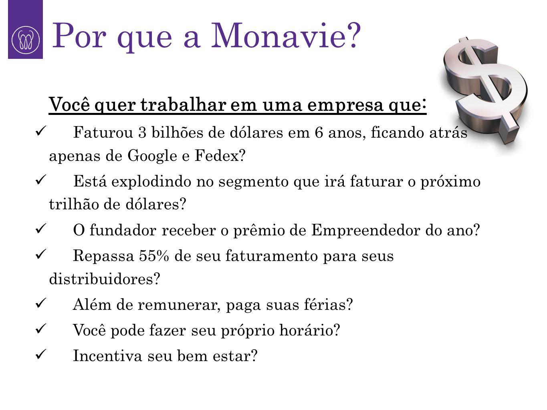Por que a Monavie Você quer trabalhar em uma empresa que: