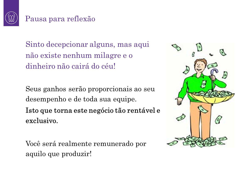 Pausa para reflexão Sinto decepcionar alguns, mas aqui não existe nenhum milagre e o dinheiro não cairá do céu!