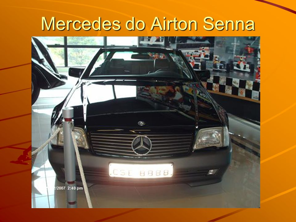 Mercedes do Airton Senna