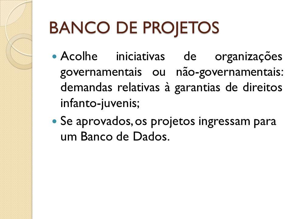 BANCO DE PROJETOS