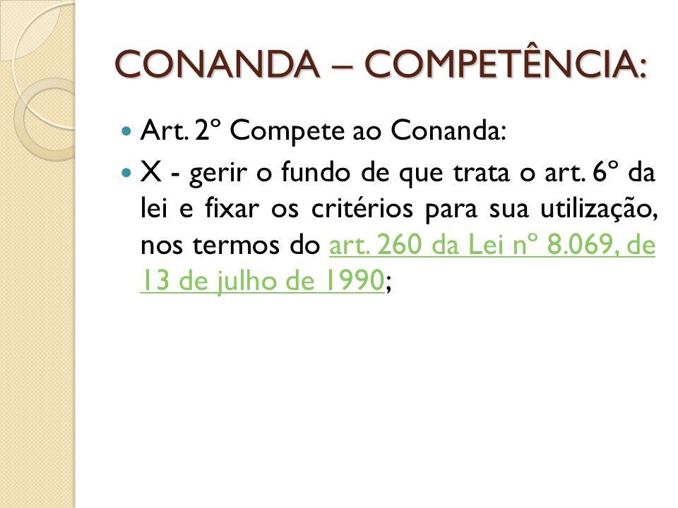 CONANDA – COMPETÊNCIA: