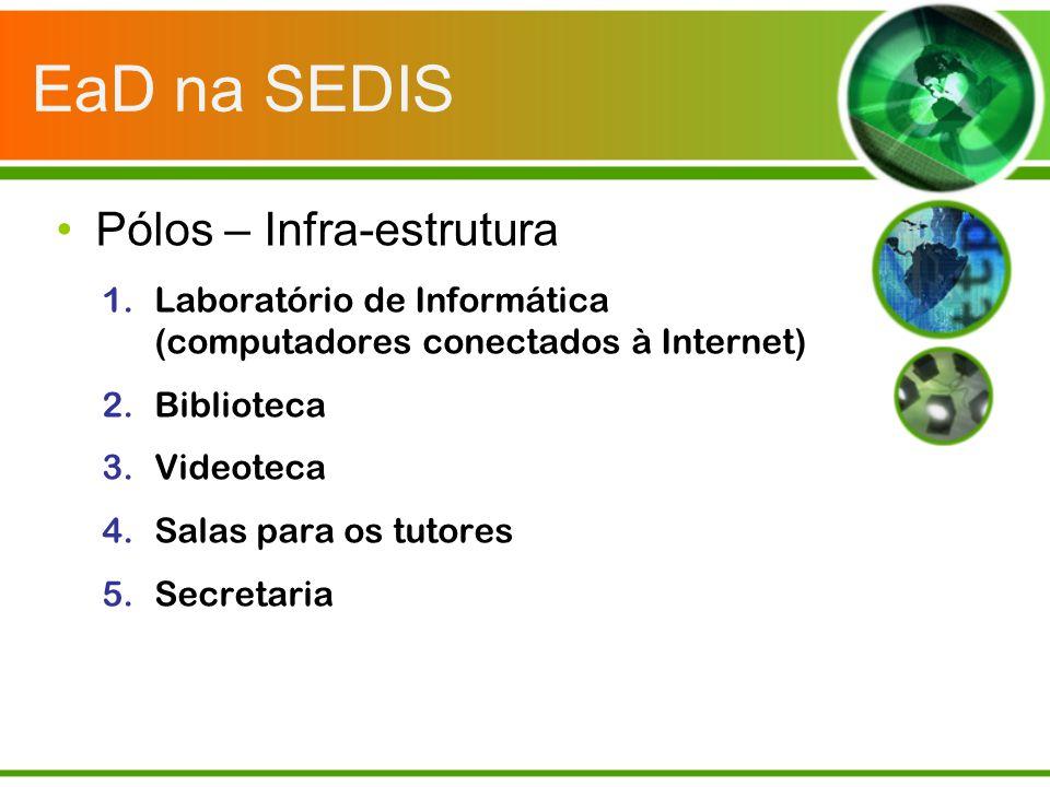 EaD na SEDIS Pólos – Infra-estrutura