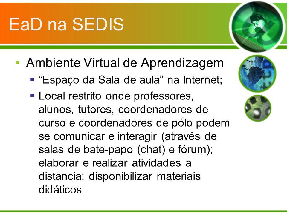 EaD na SEDIS Ambiente Virtual de Aprendizagem