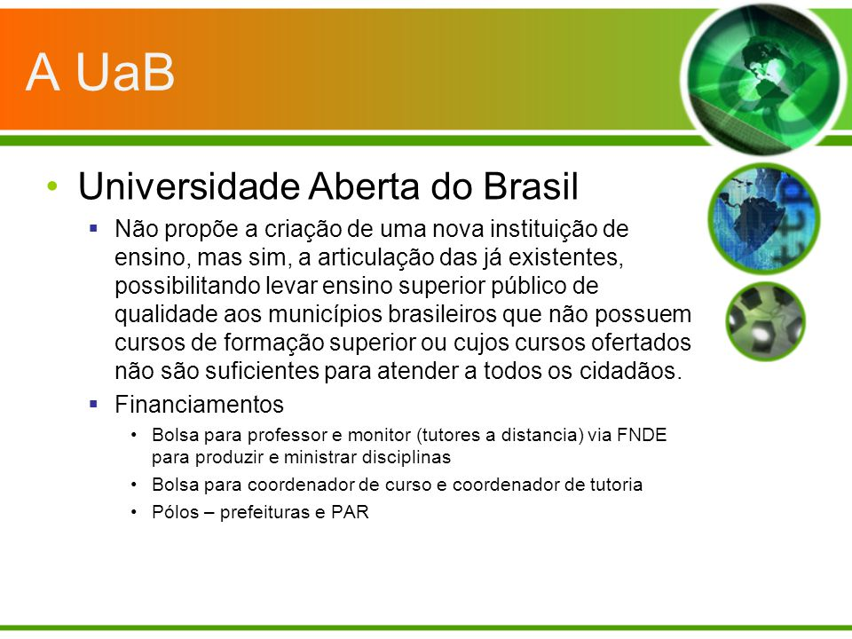 A UaB Universidade Aberta do Brasil