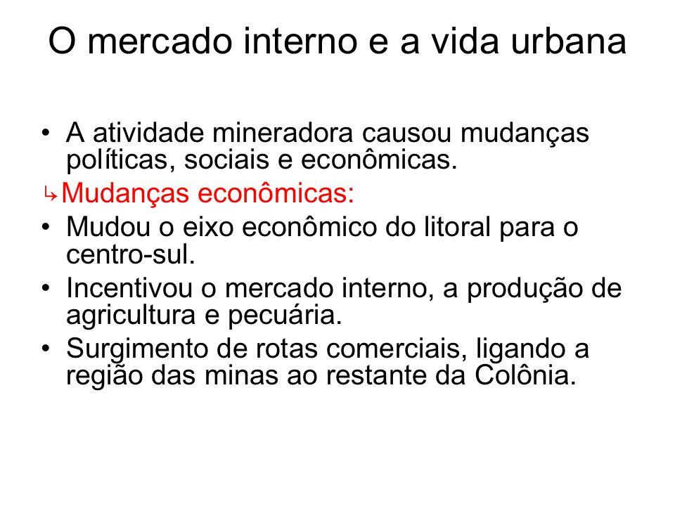 O mercado interno e a vida urbana