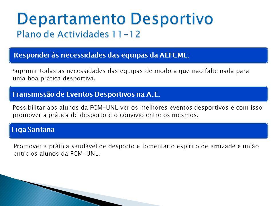 Departamento Desportivo Plano de Actividades 11-12