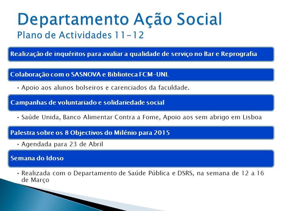 Departamento Ação Social Plano de Actividades 11-12