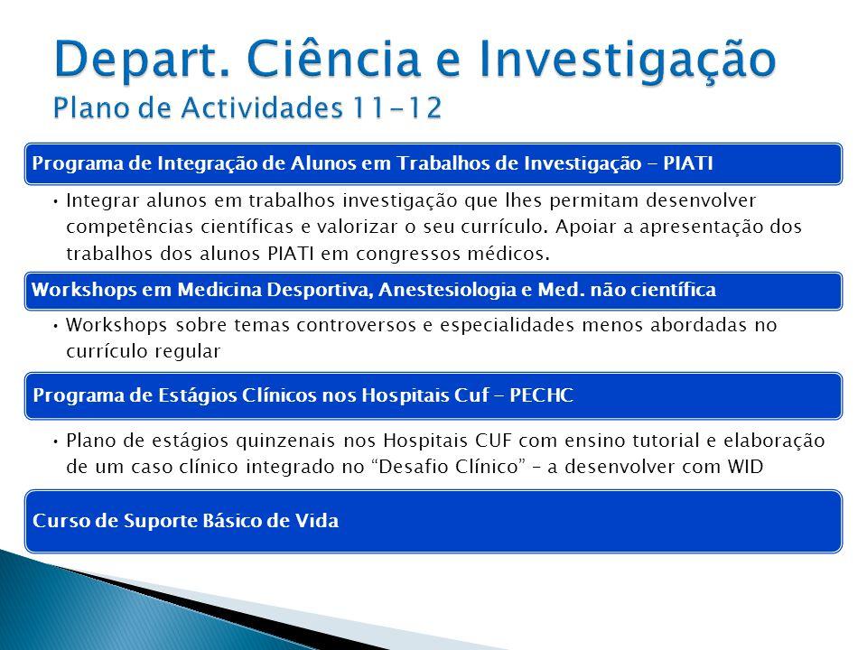 Depart. Ciência e Investigação Plano de Actividades 11-12