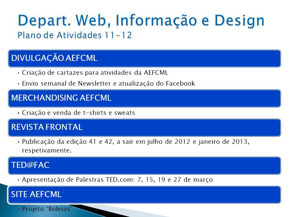 Depart. Web, Informação e Design Plano de Atividades 11-12