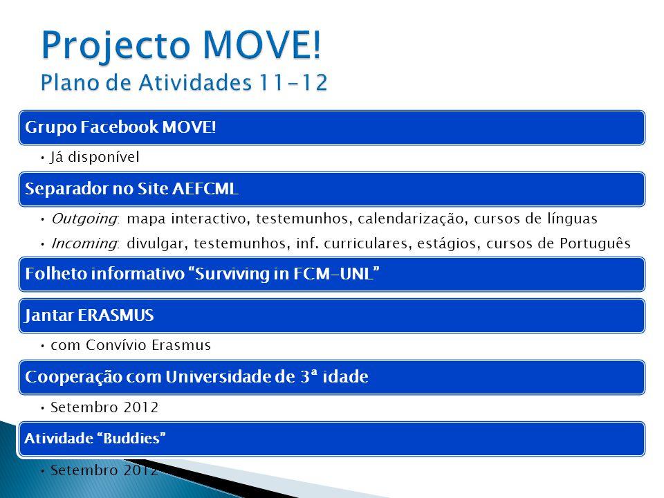 Projecto MOVE! Plano de Atividades 11-12