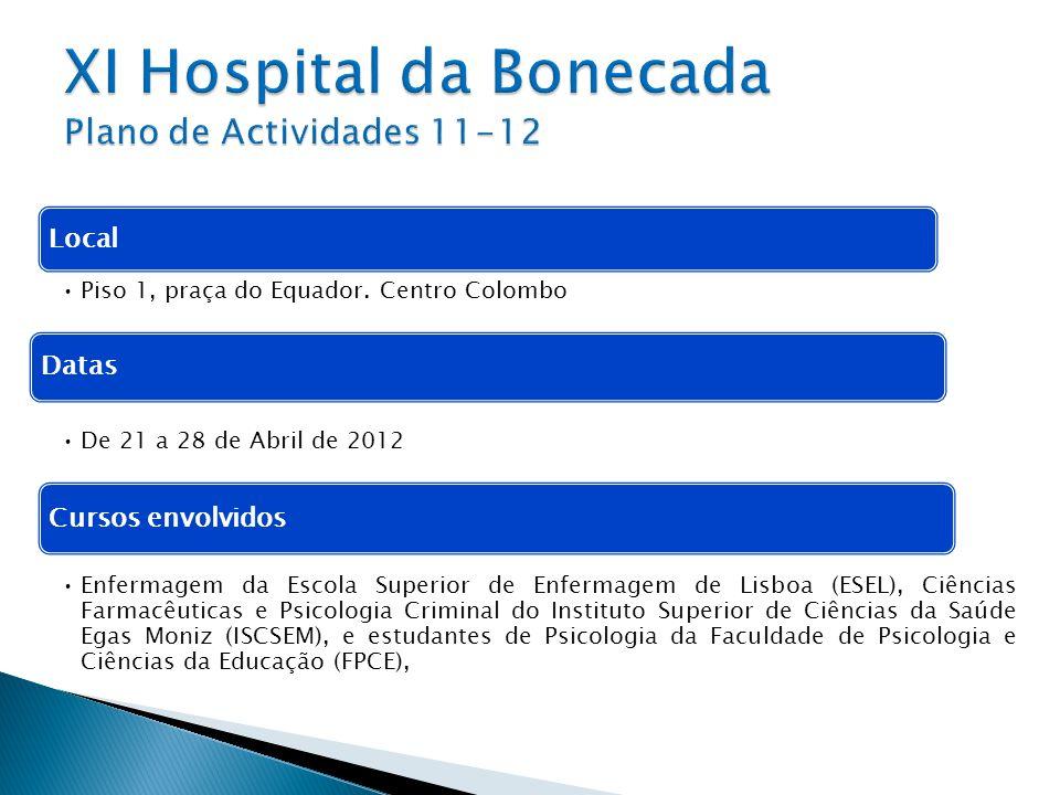 XI Hospital da Bonecada Plano de Actividades 11-12