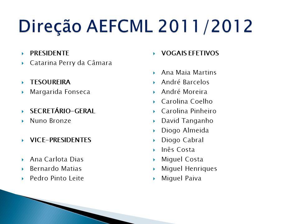 Direção AEFCML 2011/2012 Presidente Vogais Efetivos