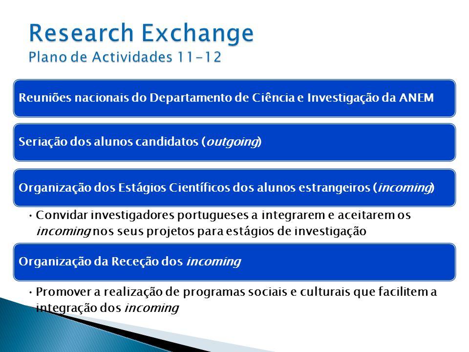 Research Exchange Plano de Actividades 11-12