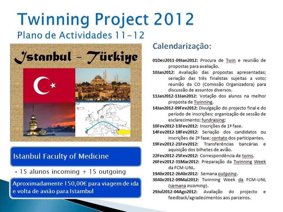 Twinning Project 2012 Plano de Actividades 11-12