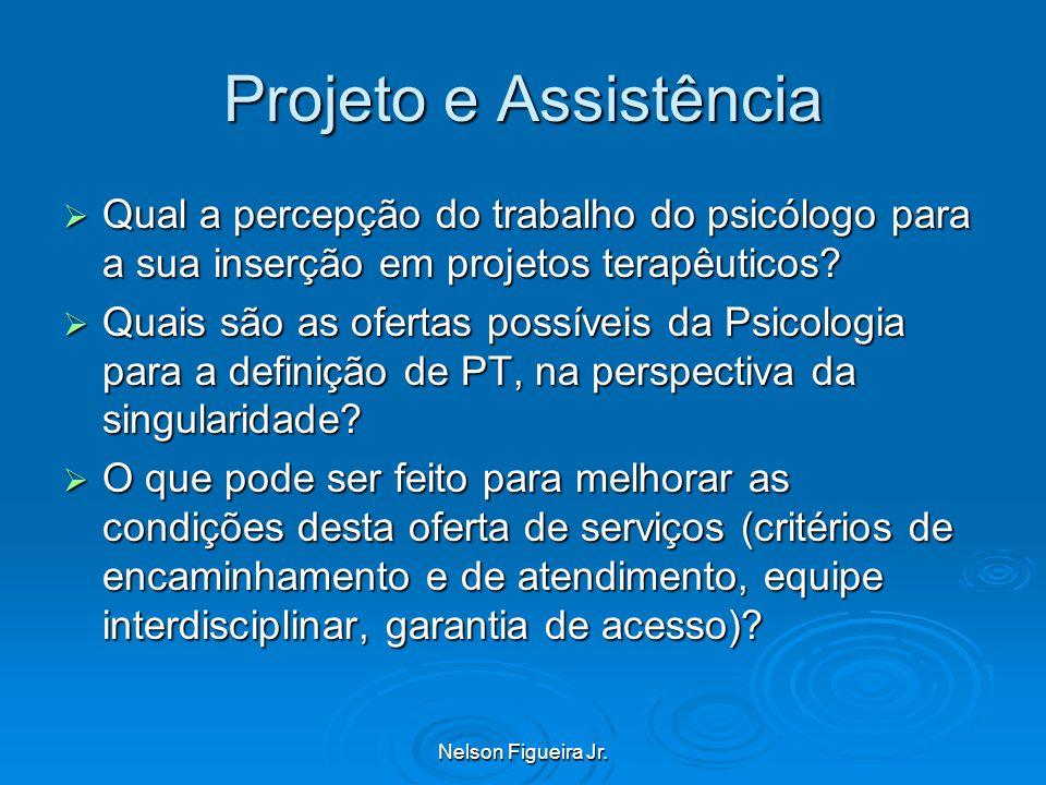 Projeto e Assistência Qual a percepção do trabalho do psicólogo para a sua inserção em projetos terapêuticos