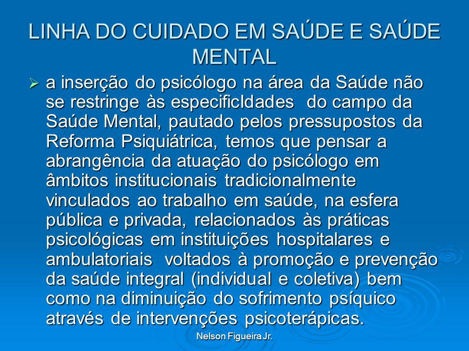LINHA DO CUIDADO EM SAÚDE E SAÚDE MENTAL