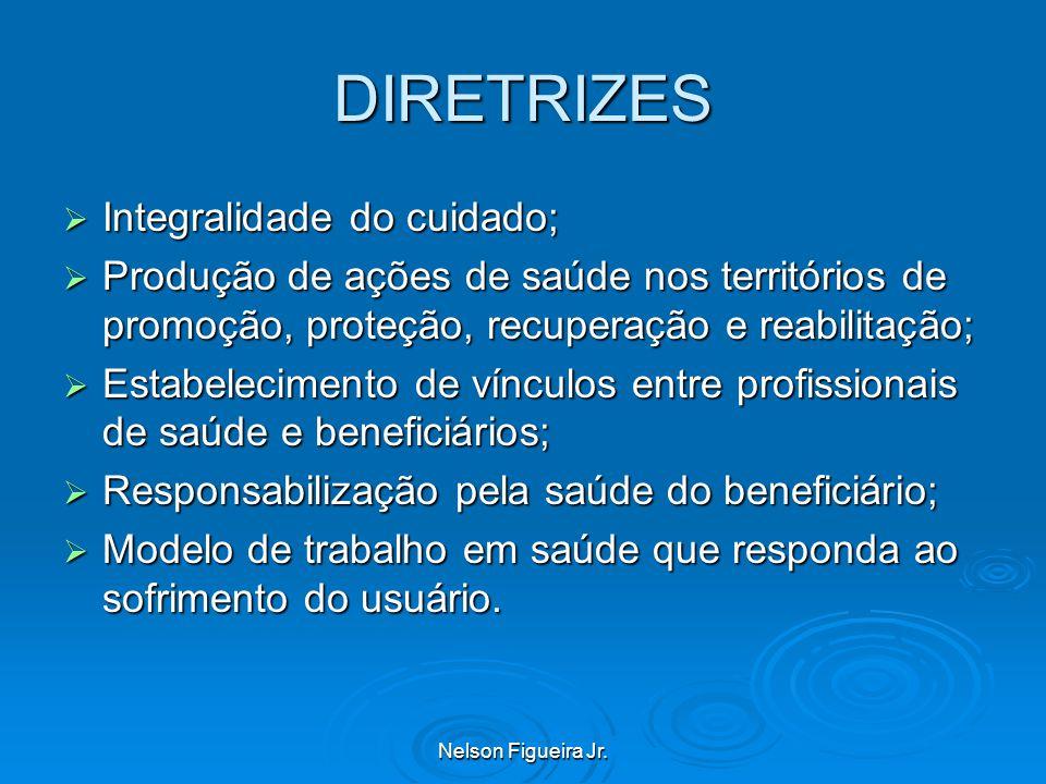DIRETRIZES Integralidade do cuidado;