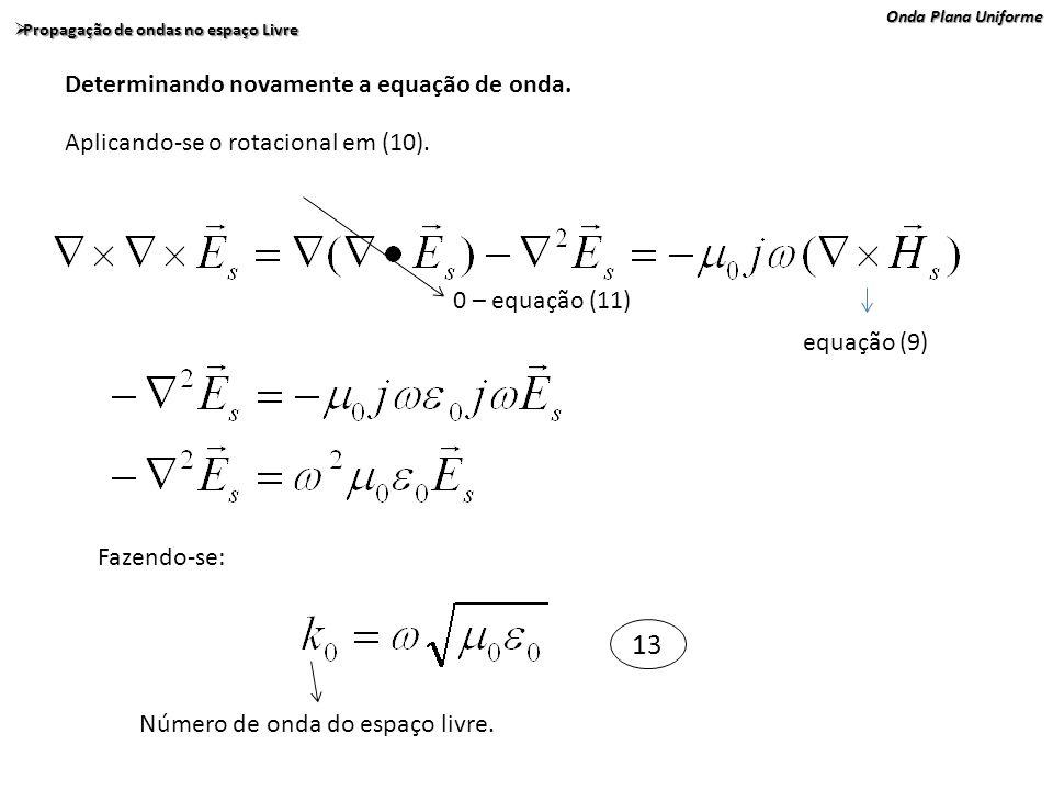13 Determinando novamente a equação de onda.