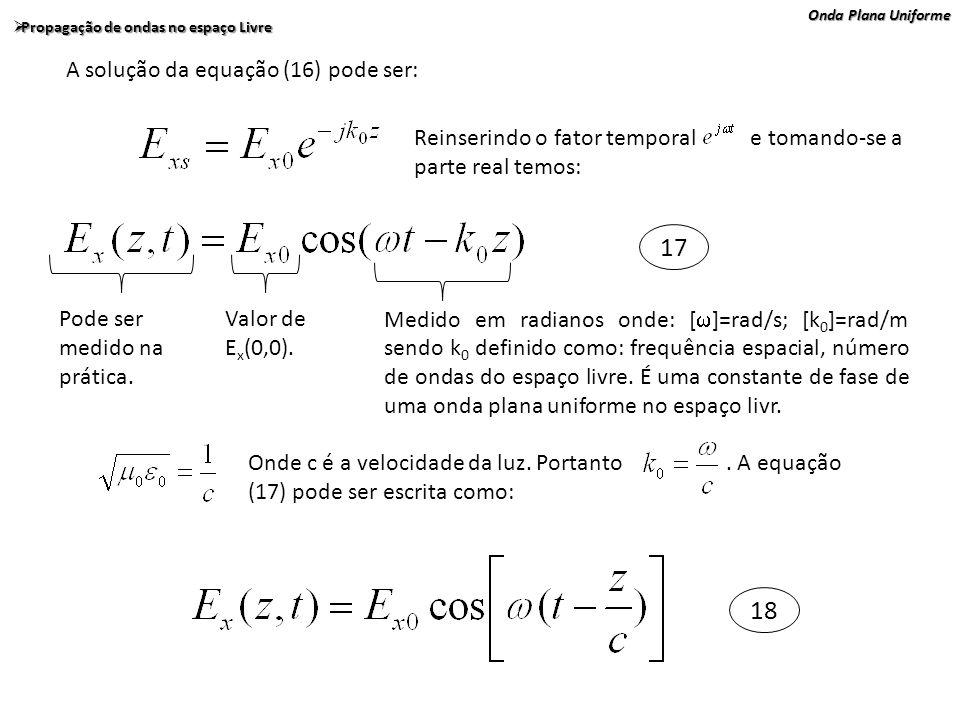 17 18 A solução da equação (16) pode ser: