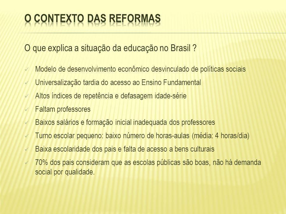 O contexto das reformas