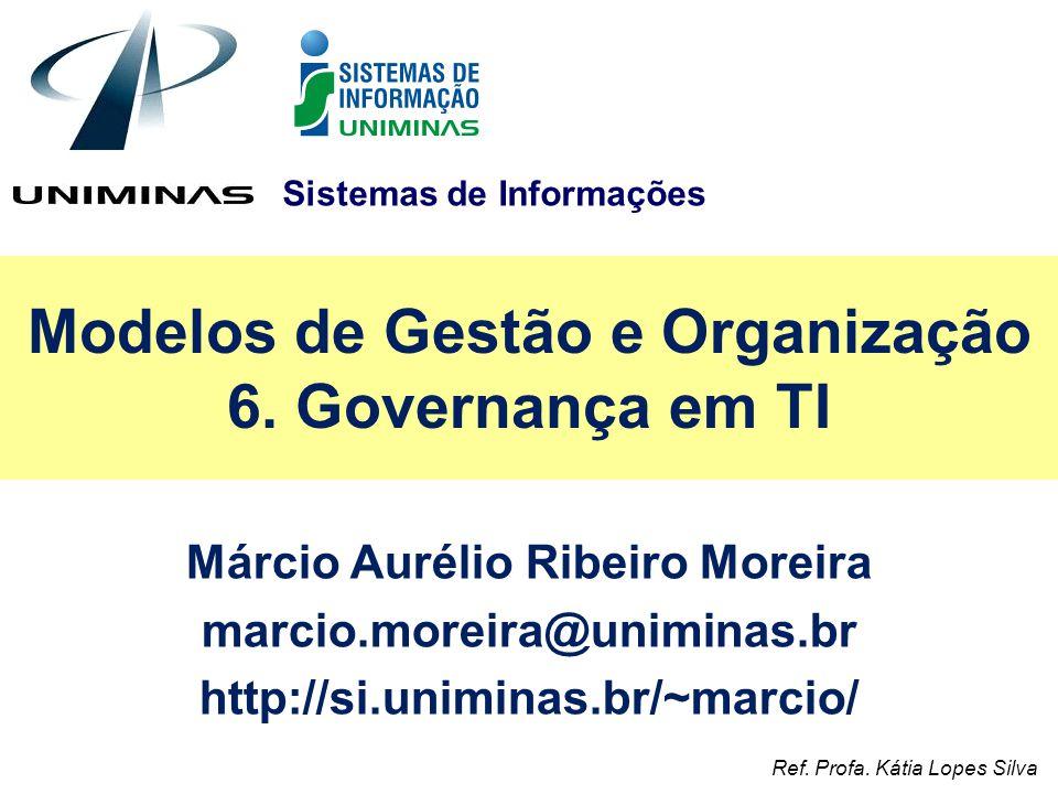 Modelos de Gestão e Organização 6. Governança em TI