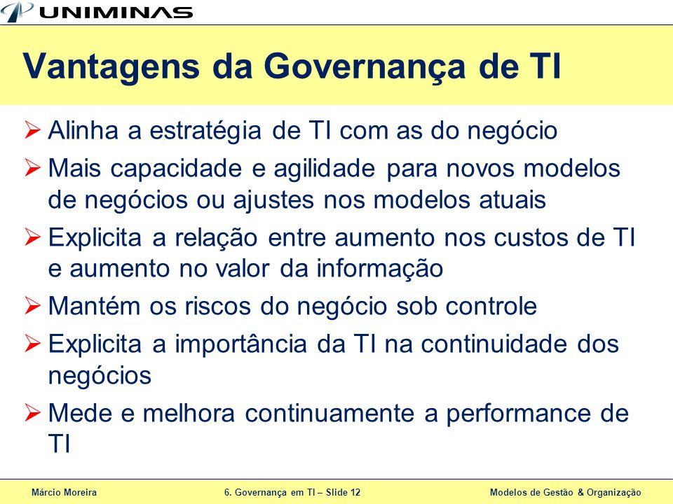 Vantagens da Governança de TI