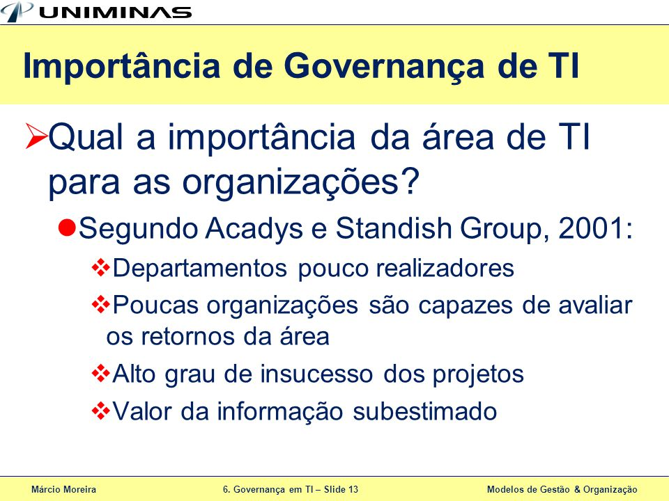 Importância de Governança de TI
