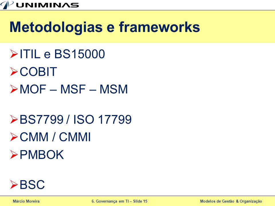Metodologias e frameworks
