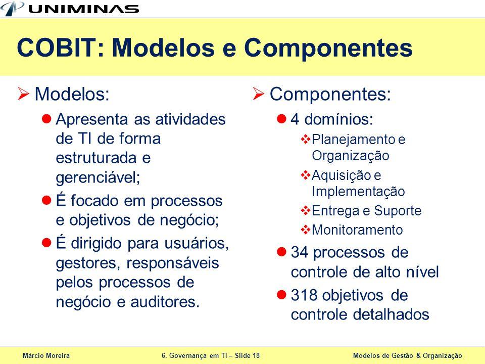 COBIT: Modelos e Componentes