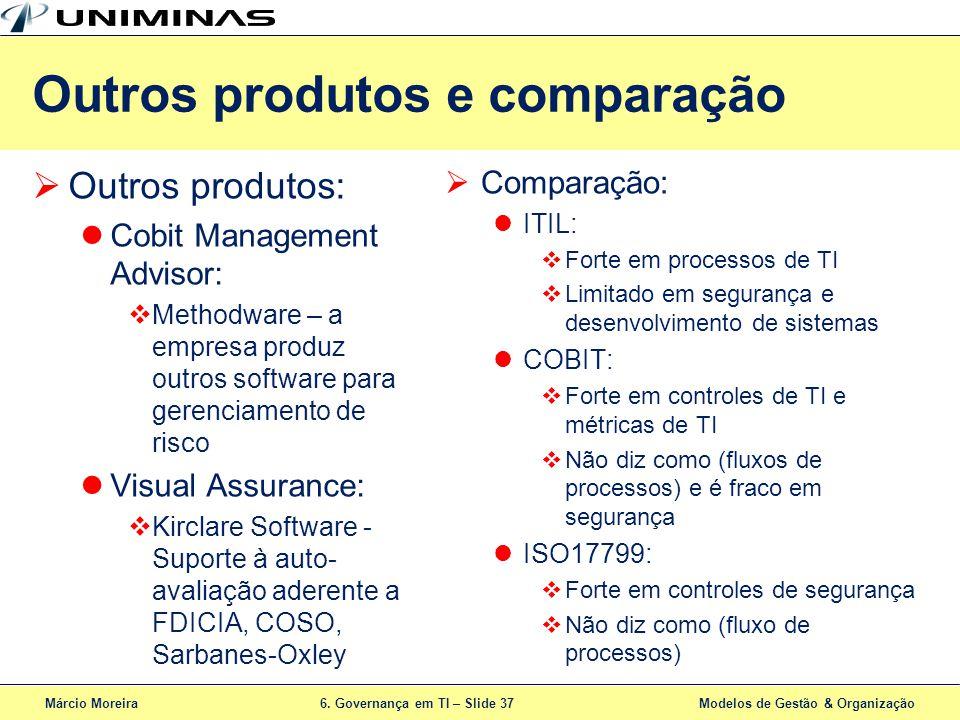 Outros produtos e comparação