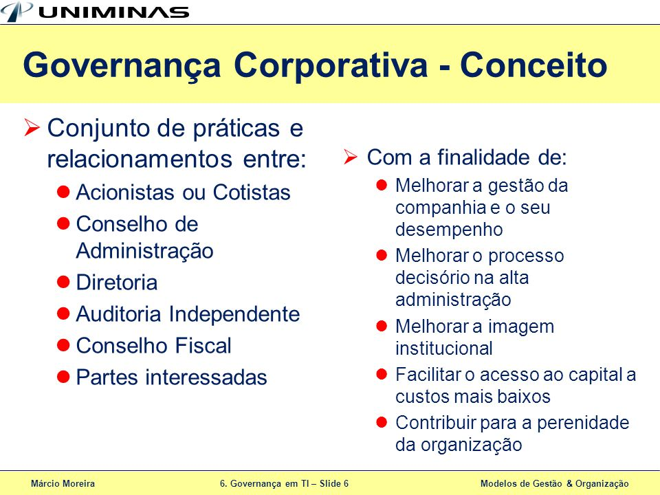 Governança Corporativa - Conceito