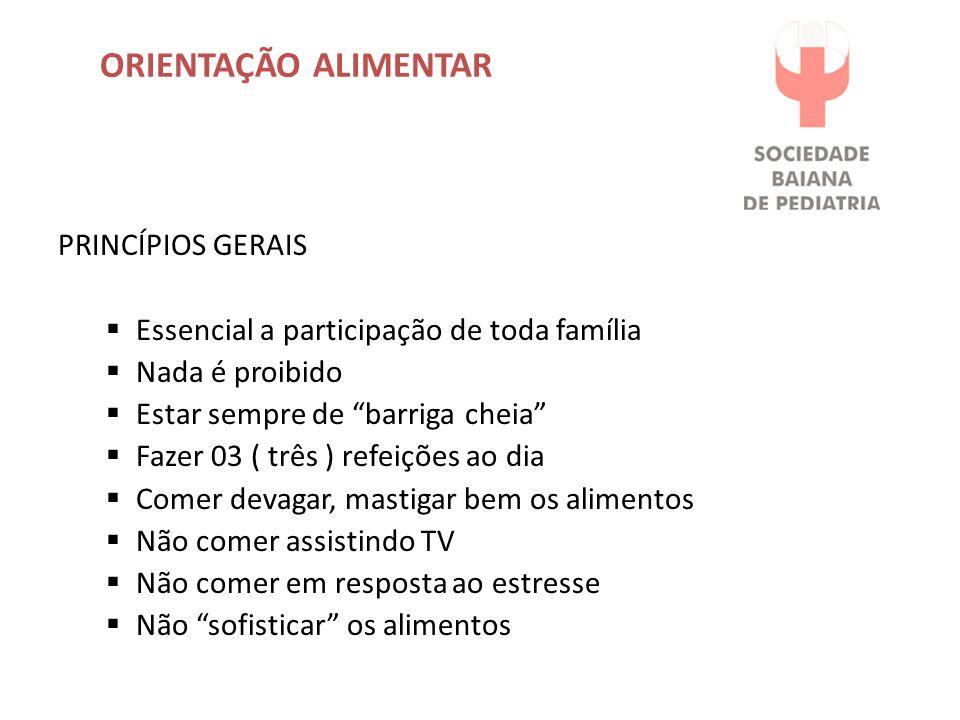 ORIENTAÇÃO ALIMENTAR PRINCÍPIOS GERAIS