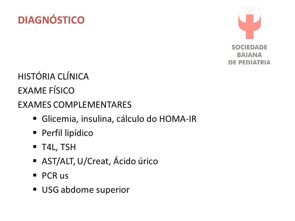 DIAGNÓSTICO HISTÓRIA CLÍNICA EXAME FÍSICO EXAMES COMPLEMENTARES