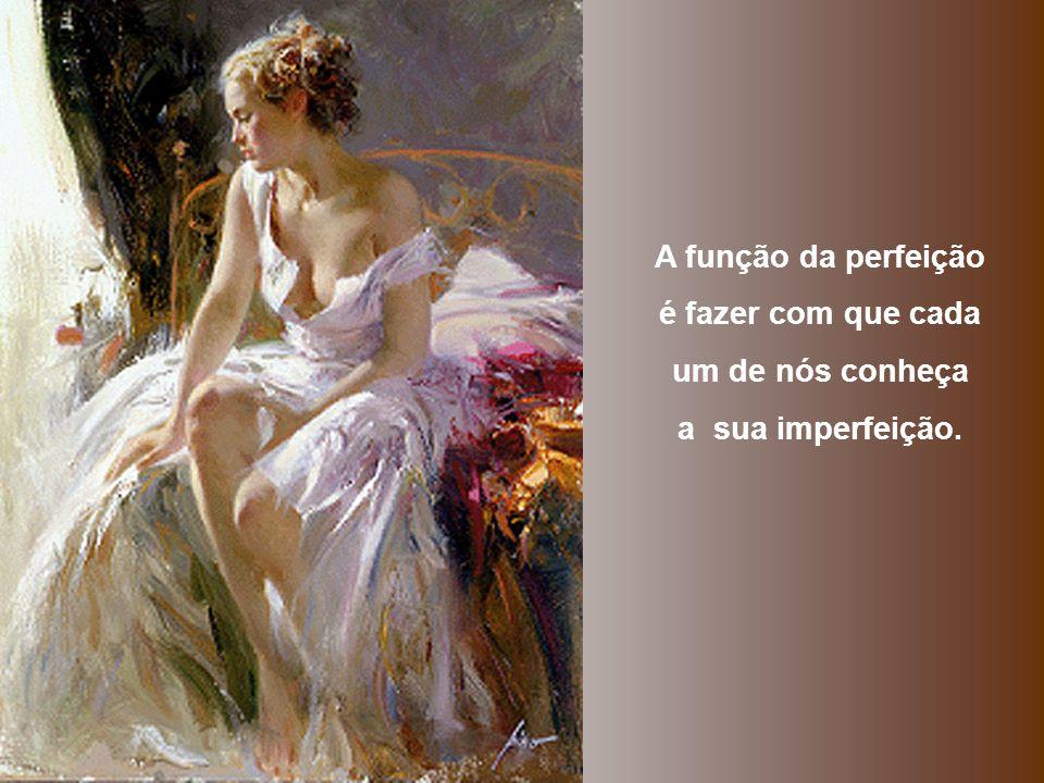 A função da perfeição é fazer com que cada um de nós conheça a sua imperfeição.