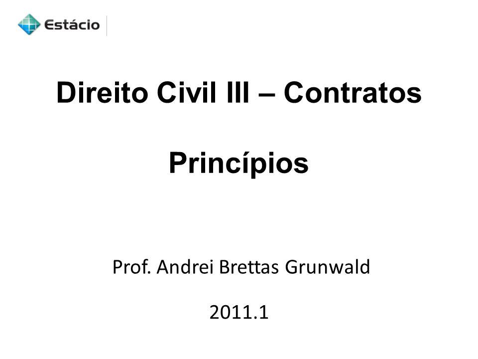 Direito Civil III – Contratos Princípios