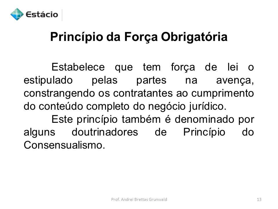Princípio da Força Obrigatória