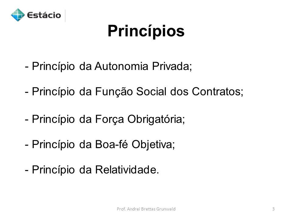 - Princípio da Autonomia Privada;