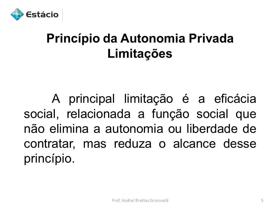 Princípio da Autonomia Privada Limitações